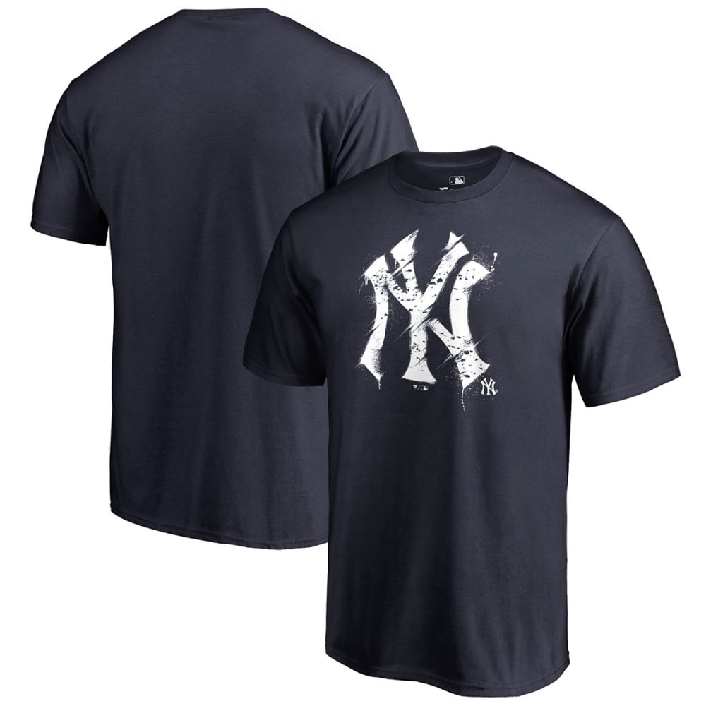 NEW YORK YANKEES Men's Splatter Logo Short-Sleeve Tee - NAVY SP-4754896