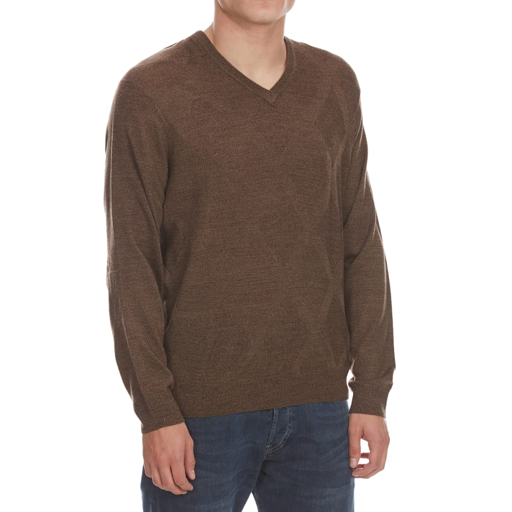Dockers Men's Easy-Care V-Neck Sweater - Brown, M