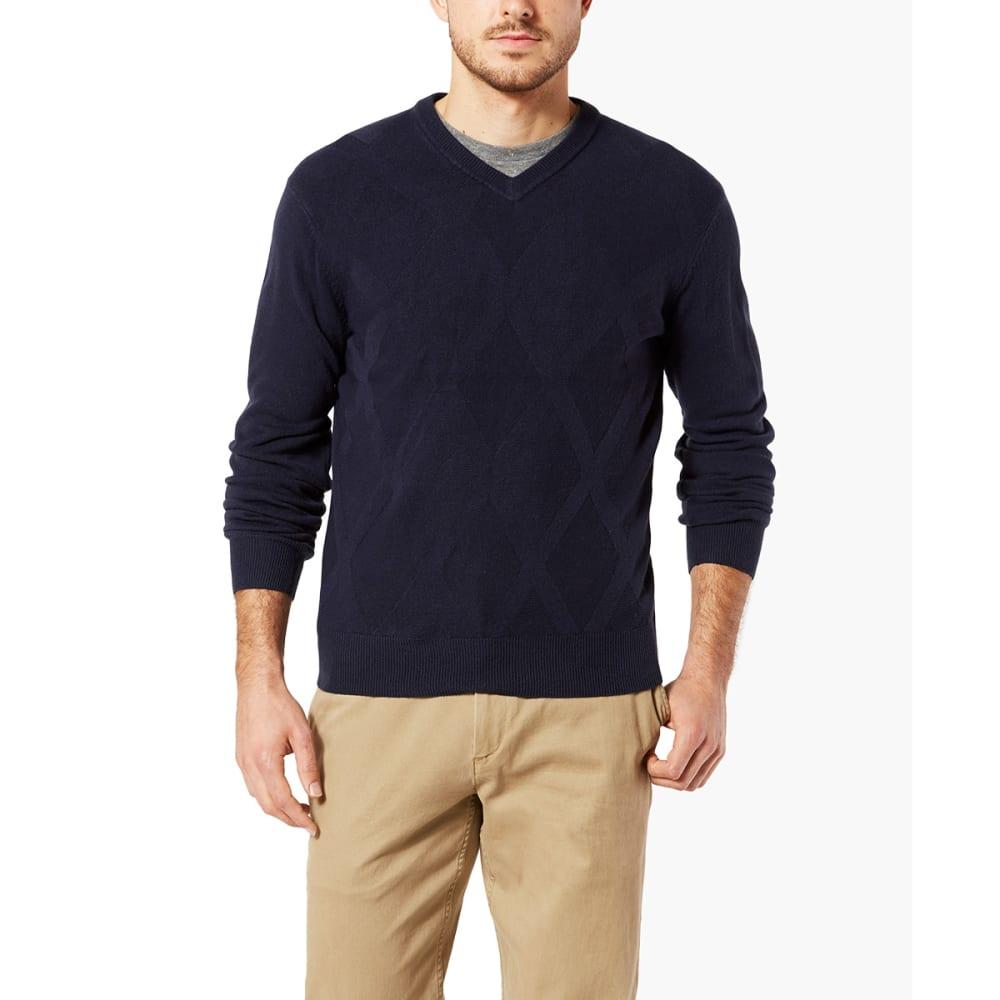 DOCKERS Men's Easy-Care V-Neck Sweater - NAVY-0003
