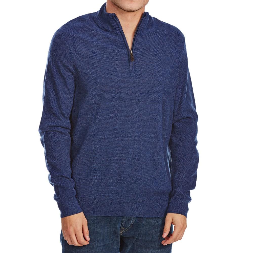 DOCKERS Men's 1/4 Zip Textured Long-Sleeve Sweater - PEMBROKE-0002-8406