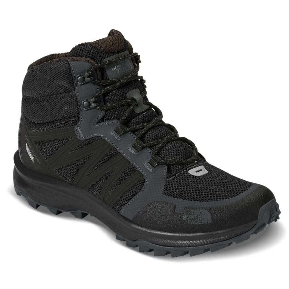 THE NORTH FACE Men's Litewave Fastpack Mid Waterproof Hiking Boots - BLACK