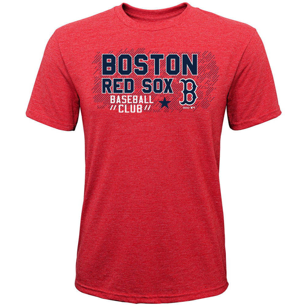 BOSTON RED SOX Boys' Pinch Hitter Poly Short-Sleeve Tee - RED