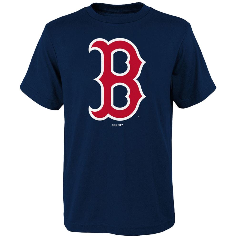 BOSTON RED SOX Boys' Primary Logo Shot-Sleeve Tee - NAVY