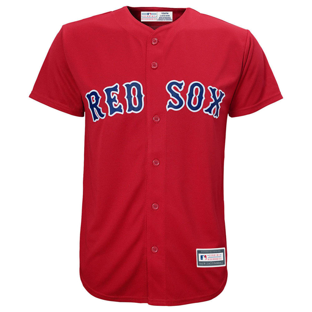 BOSTON RED SOX Boys' Replica Jersey - RED