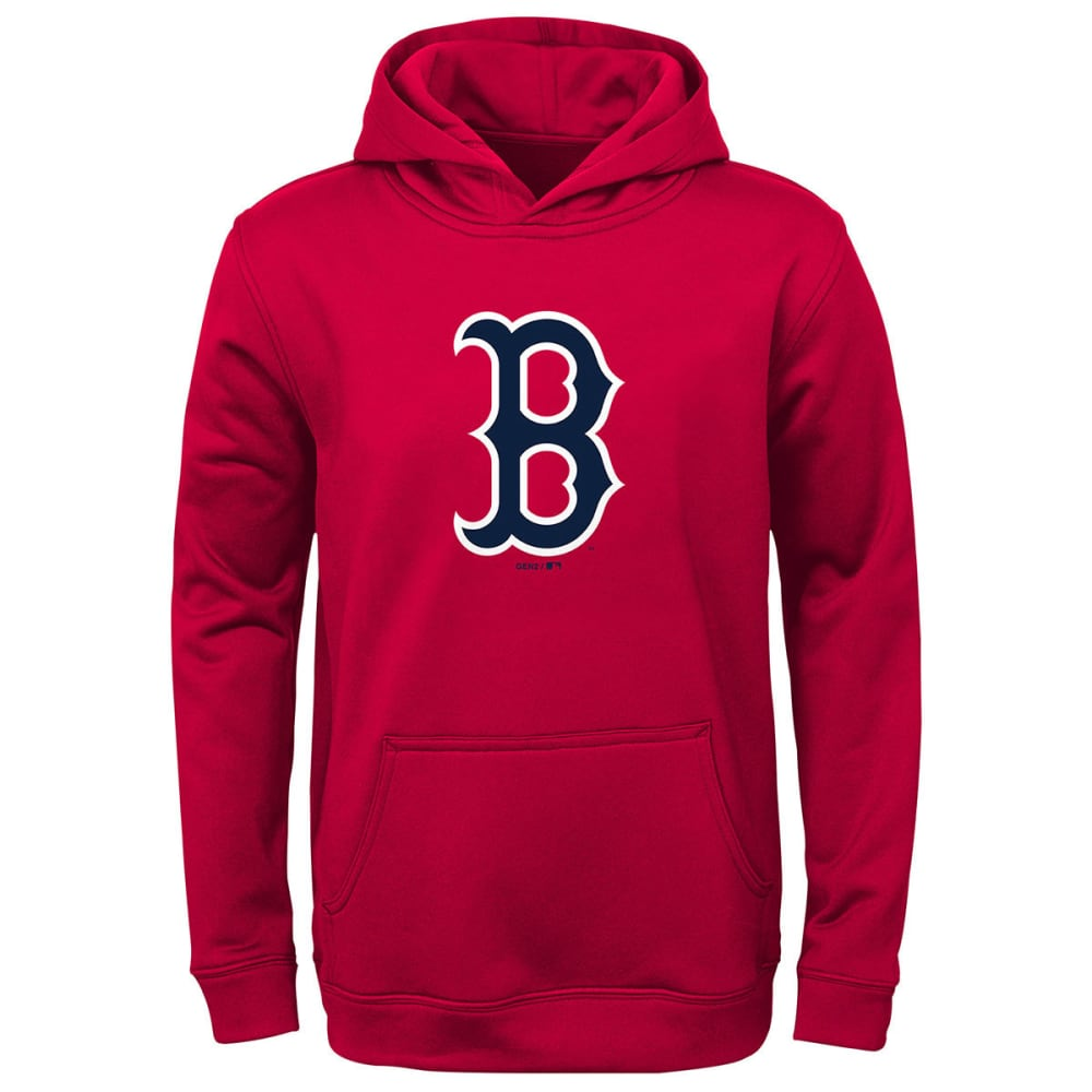 BOSTON RED SOX Boys' Logo Pullover Hoodie - RED
