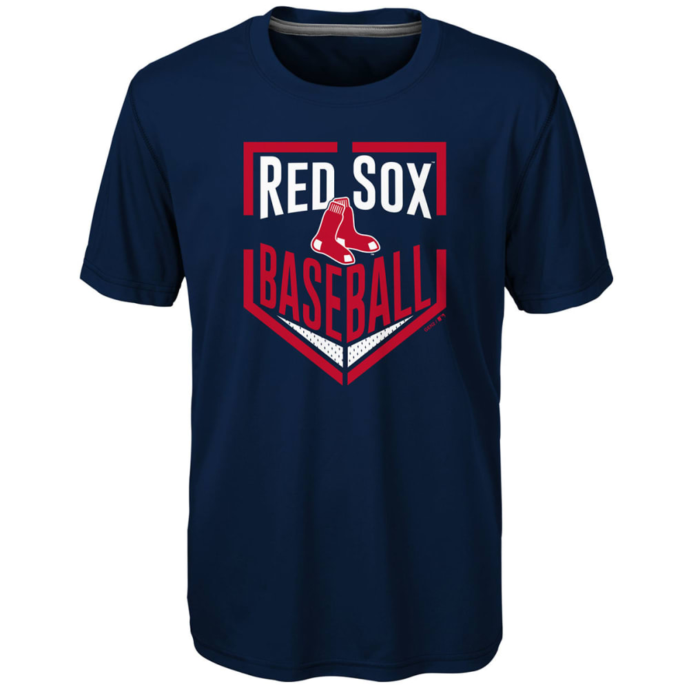 BOSTON RED SOX Little Boys' Run Scored Dri-Tek Short-Sleeve Tee - NAVY