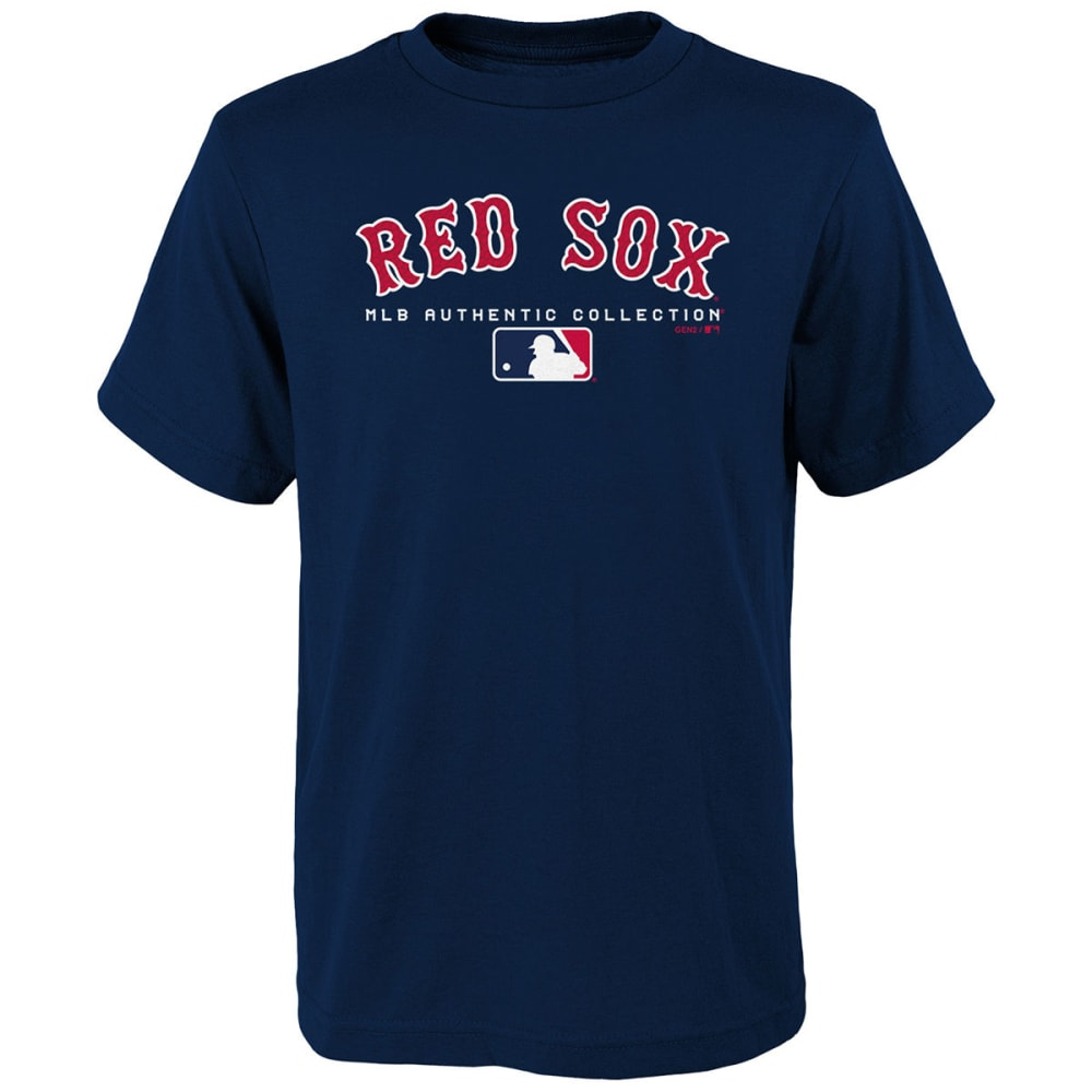 BOSTON RED SOX Big Boys' Authentic MLB Team Drive Short-Sleeve Tee - NAVY