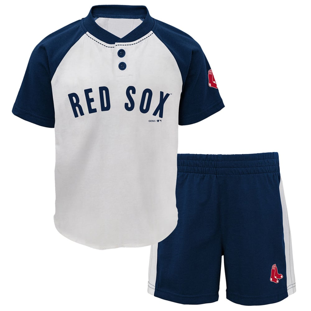 BOSTON RED SOX Toddler Boys' Good Hit 2-Piece Set - NAVY