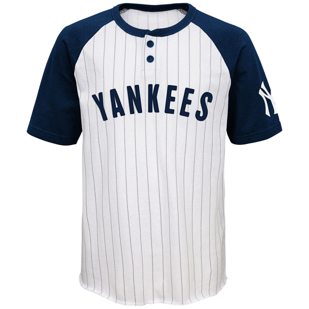 NEW YORK YANKEES Boys' Day Game Two-Button Jersey Tee - WHITE
