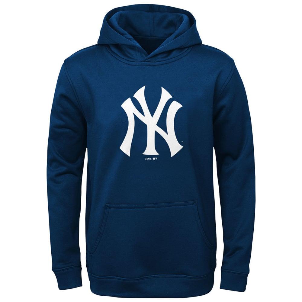 NEW YORK YANKEES Boys' Logo Pullover Hoodie - NAVY