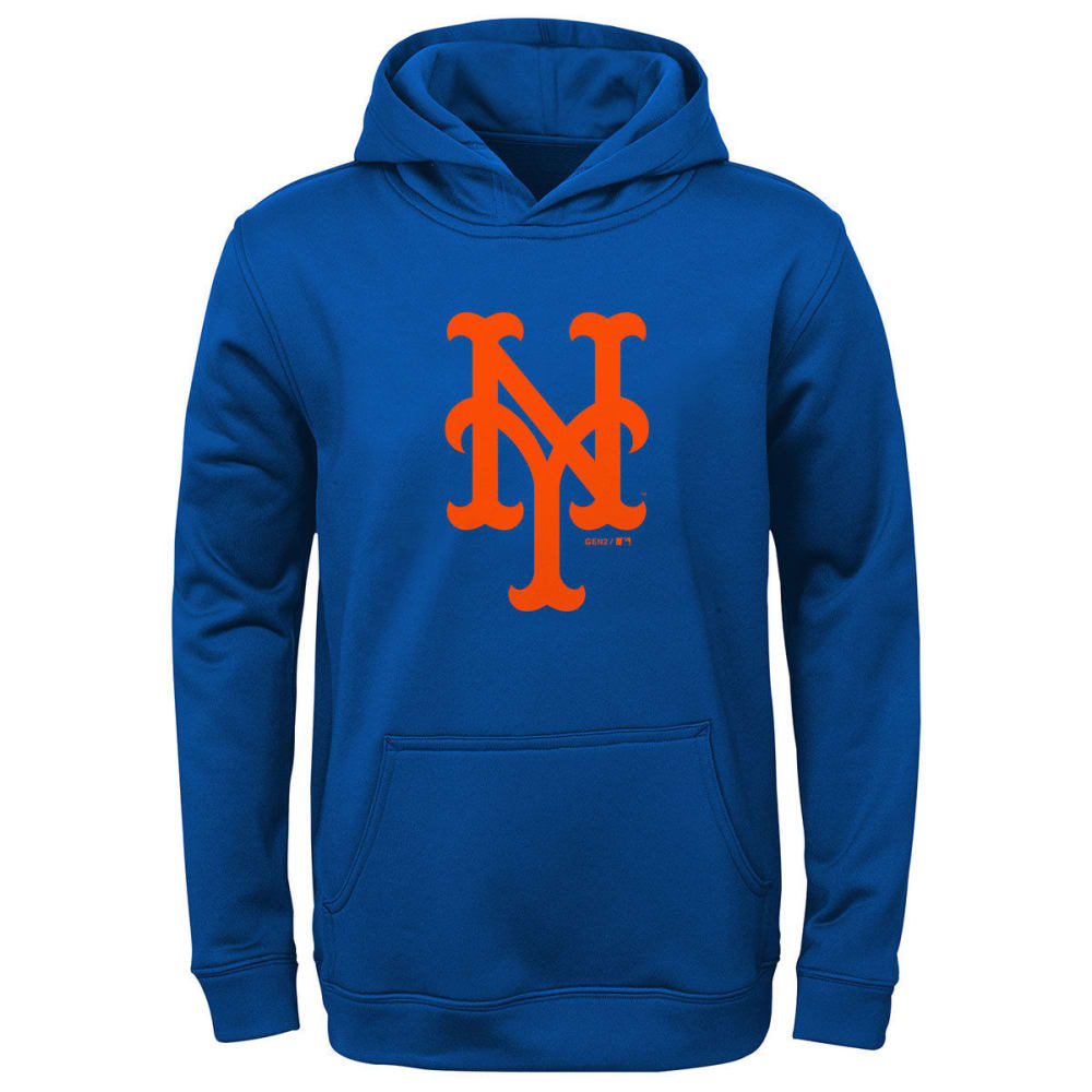 NEW YORK METS Boys' Logo Pullover Hoodie - ROYAL BLUE