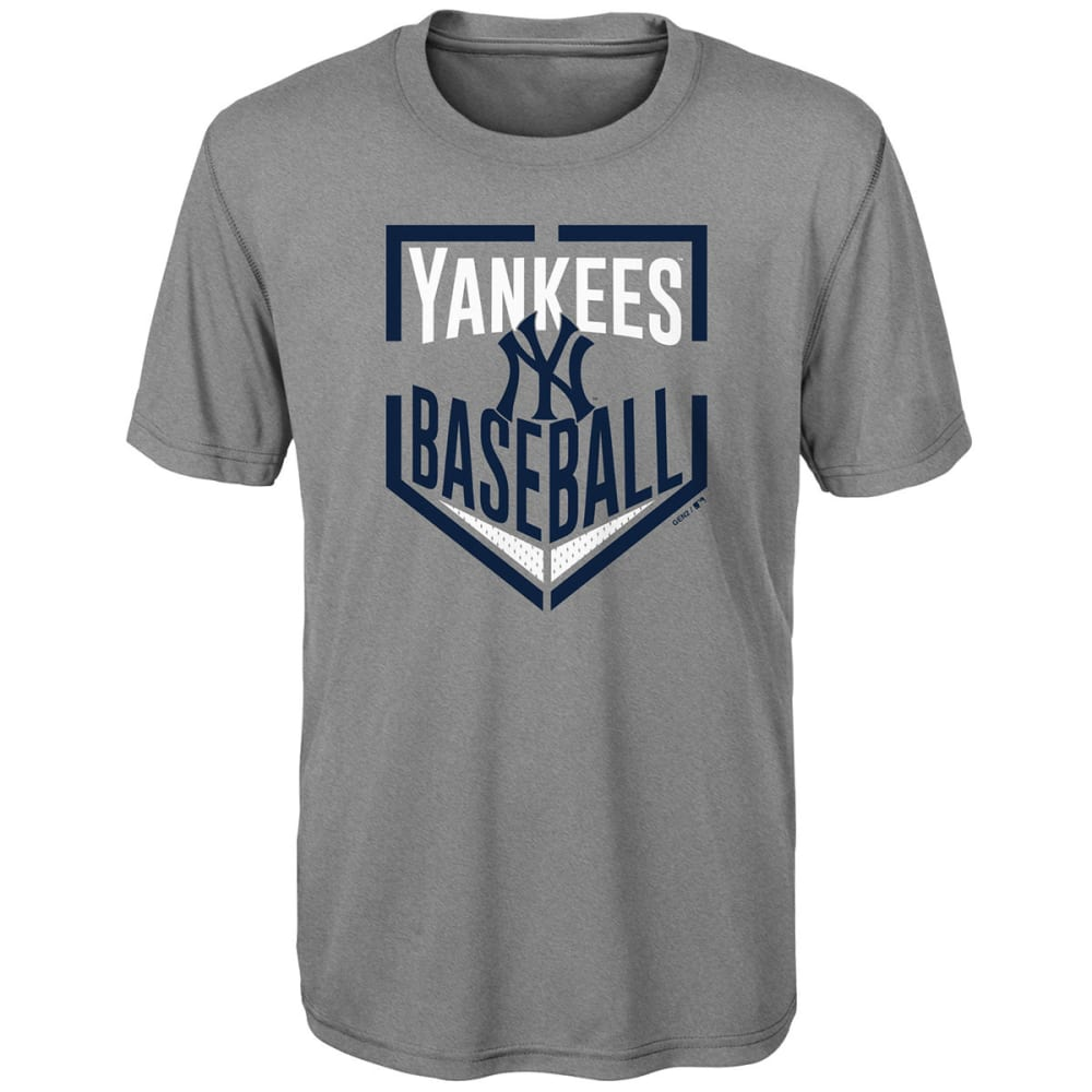NEW YORK YANKEES Big Boys' Run Scored Dri-Tek Short-Sleeve Tee - GREY