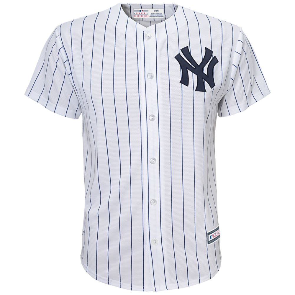 NEW YORK YANKEES Little Boys' Home Replica Jersey - WHITE