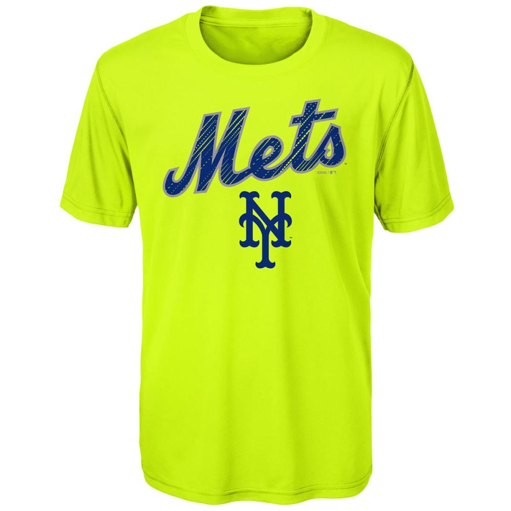NEW YORK METS Big Boys' Glowing Game Short-Sleeve Tee - LIME