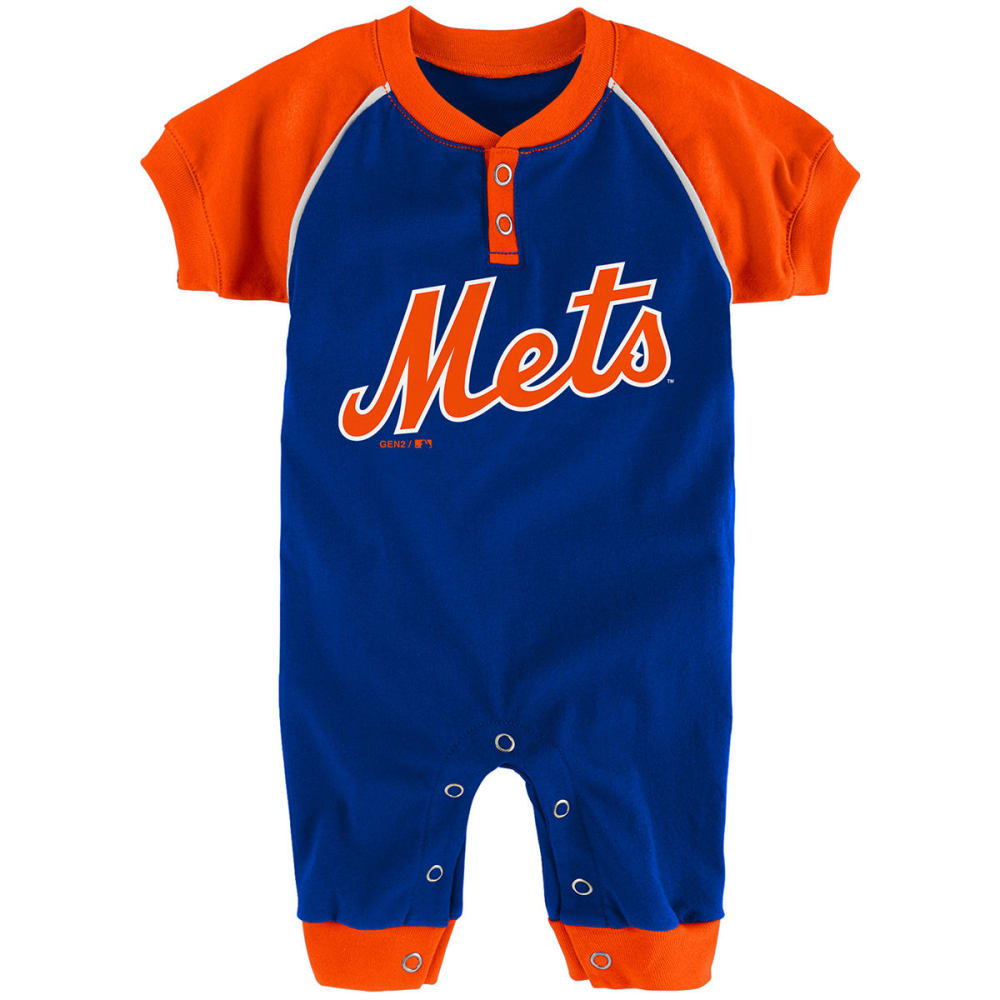 NEW YORK METS Infant Boys' Game Time Coveralls 6-9M
