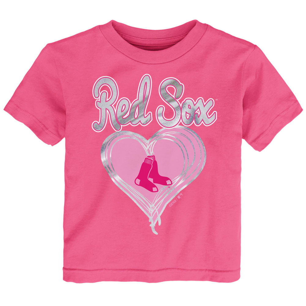 BOSTON RED SOX Little Girls' Unfoiled Love Short-Sleeve Tee - PINK