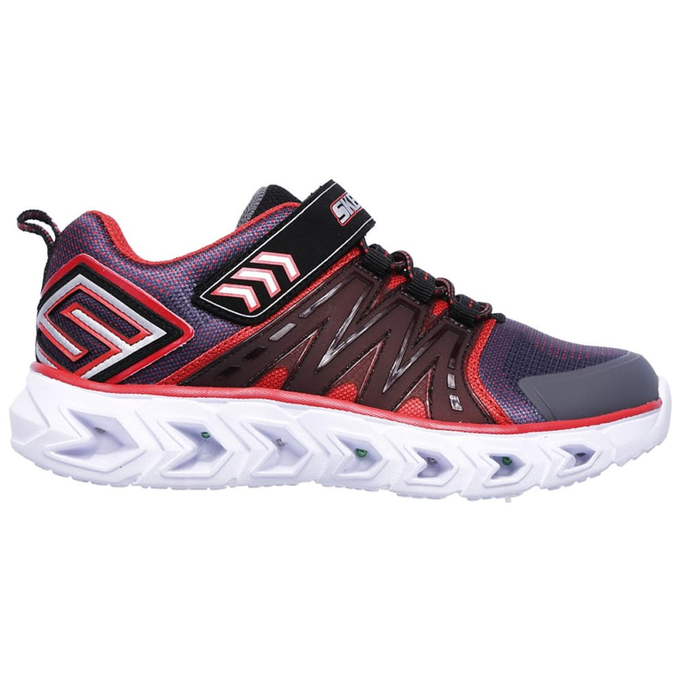 SKECHERS Boys' S Lights: Hypno-Flash 2.0 Sneakers - CHR/RED-CCRD