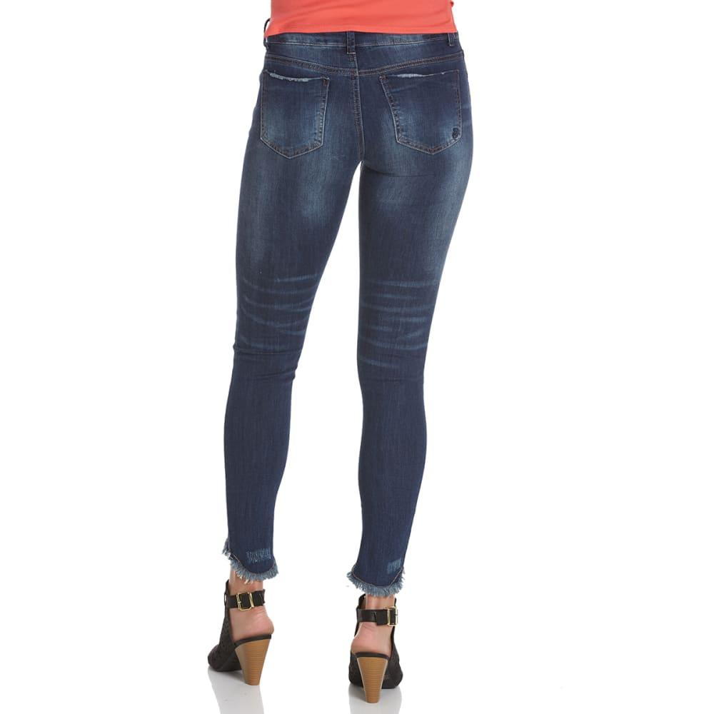INDIGO REIN Juniors' Coolidge High-Low Hem Skinny Jeans - COOLIDGE