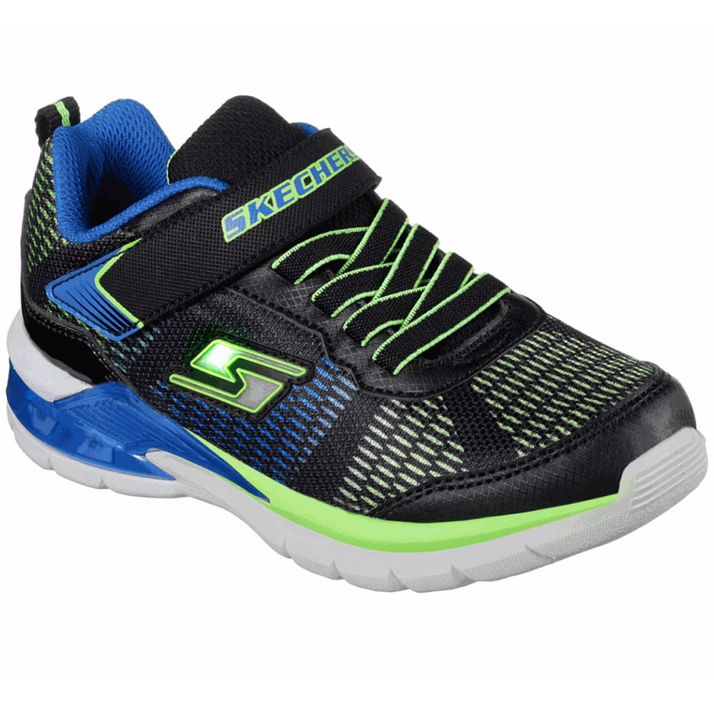 SKECHERS Toddler Boys' S Lights: Erupters II - Lava Waves Sneakers - BLUE
