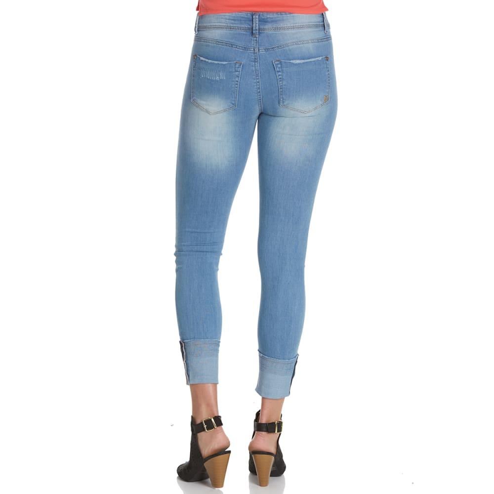 INDIGO REIN Juniors' Selvedge Cuff Skinny Jeans - C3-TAXI