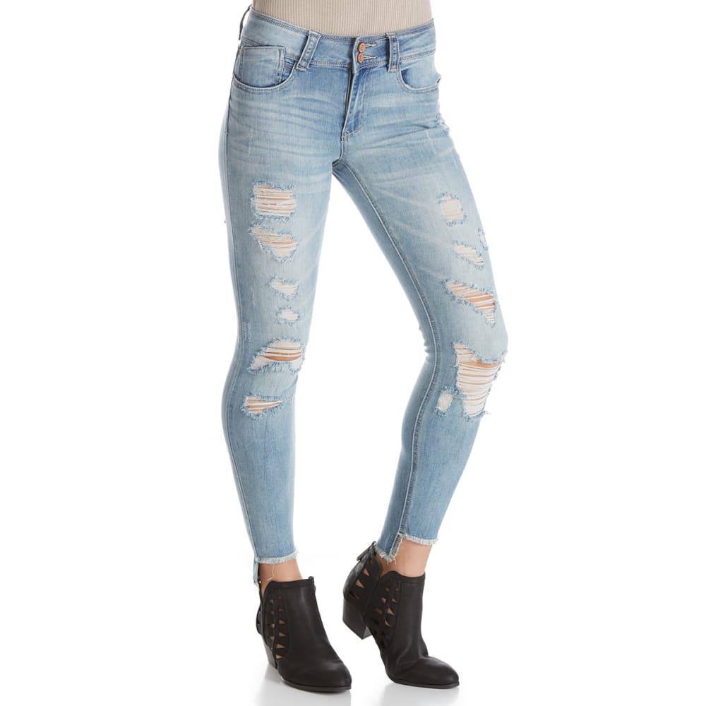 INDIGO REIN Juniors' Step Hem Skinny Anklet Jeans - MALLORY