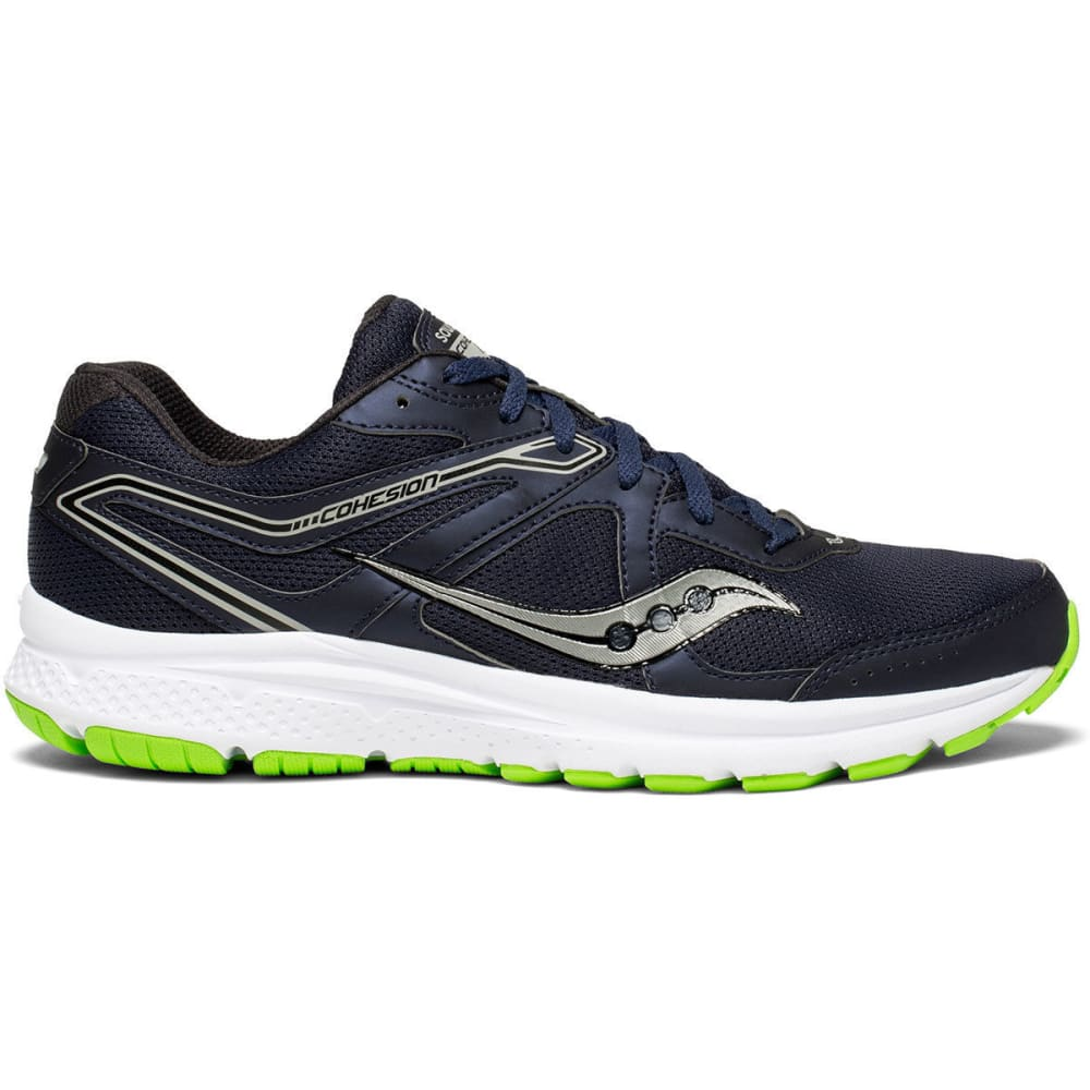 SAUCONY Men's Cohesion 11 Running Shoes, Wide - NAVY
