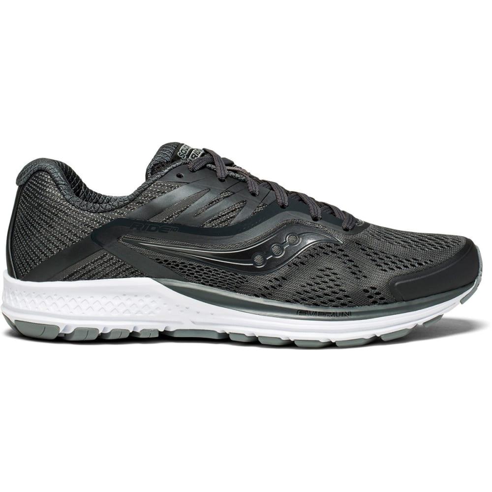Saucony Men's Ride 10 Running Shoes - Black, 8