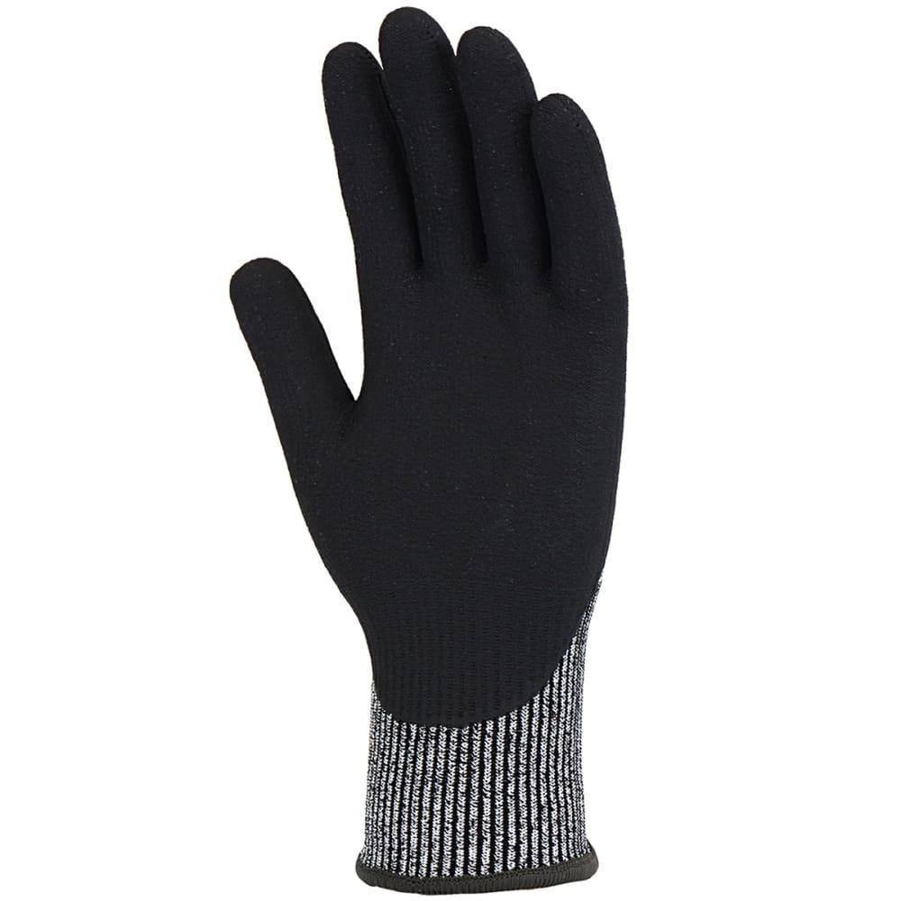 CARHARTT Men's Cut Resistant Sandy Nitrile Grip Work Gloves - BLACK