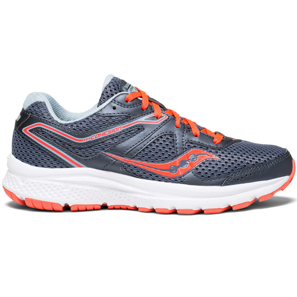 SAUCONY Women's Cohesion 11 Running Shoes, Wide - GREY