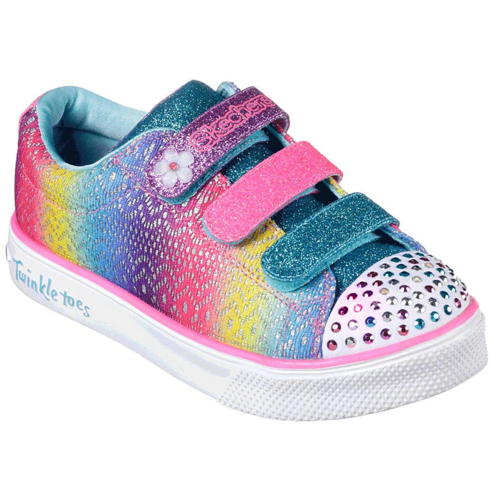 SKECHERS Little Girls' Twinkle Toes: Twinkle Breeze 2.0 - Sunshine Crochets Sneakers - MULTI