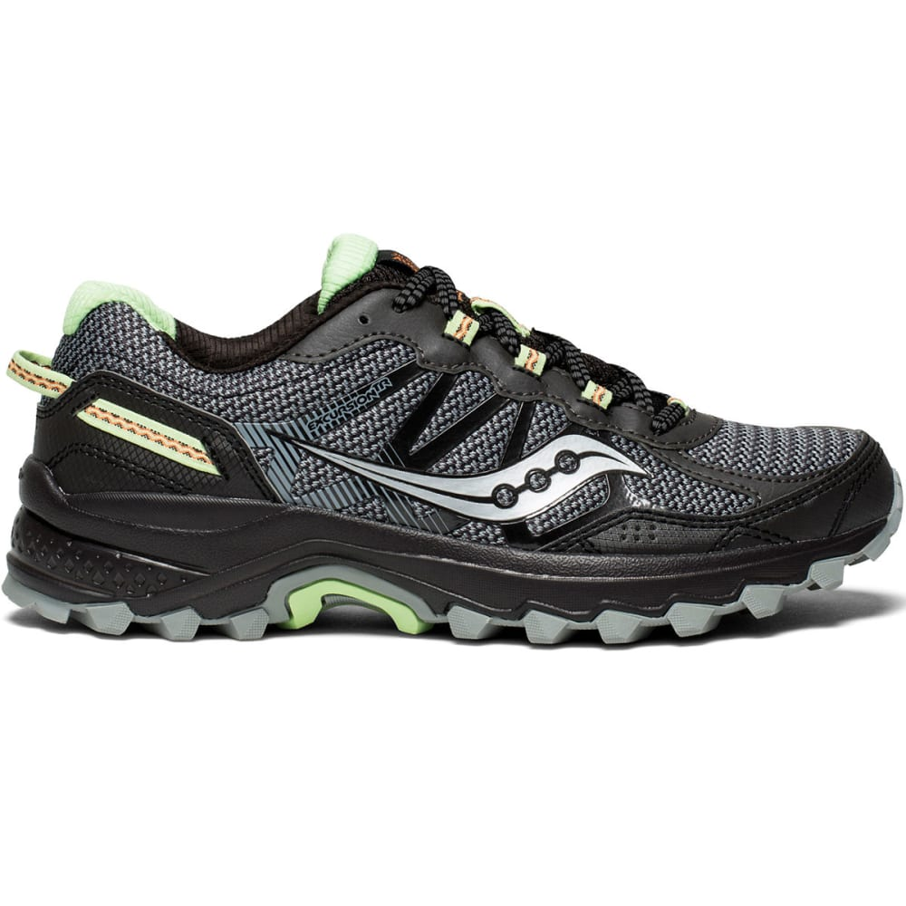 SAUCONY Women's Excursion TR11 Trail Running Shoes, Wide - BLACK