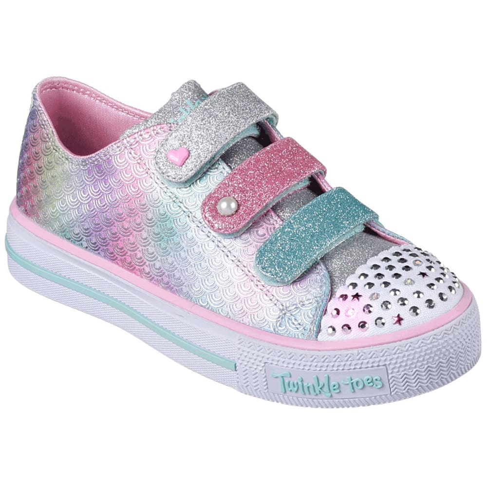 SKECHERS Toddler Girls' Twinkle Toes: Shuffles - Ms. Mermaid Sneakers - SILVER