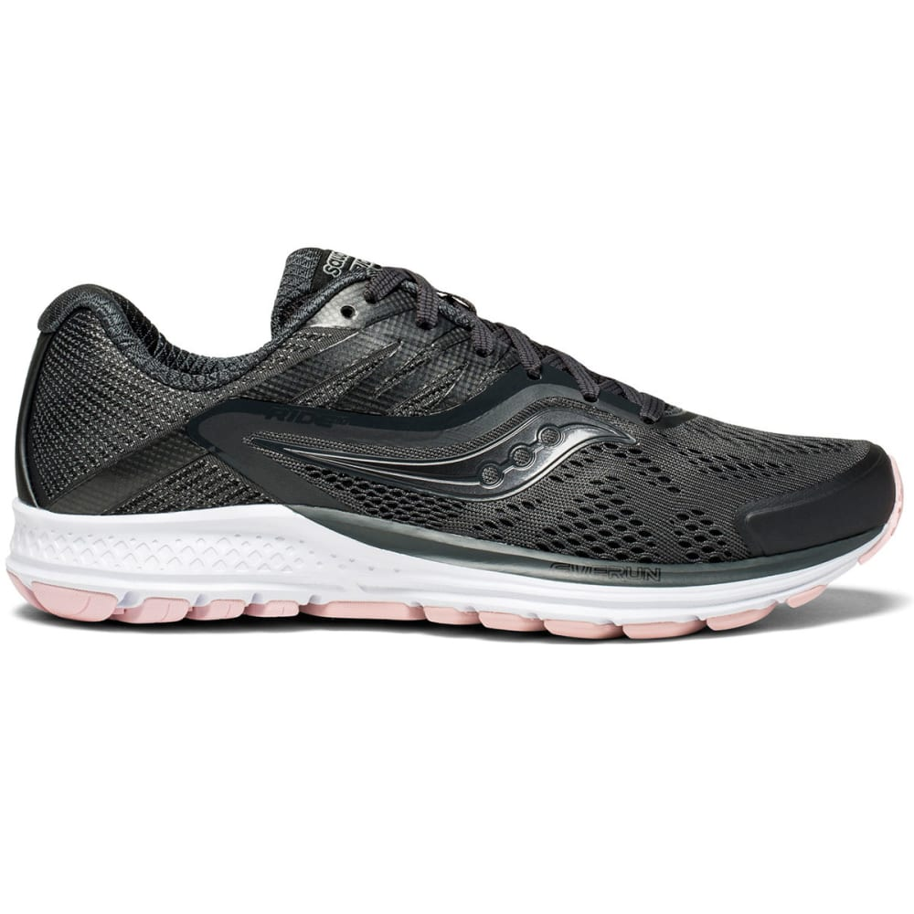 SAUCONY Women's Ride 10 Running Shoes - GUNMETAL