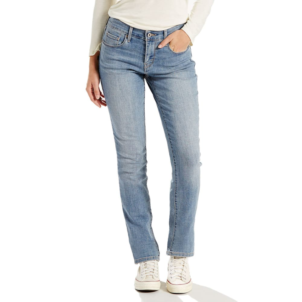 LEVI'S Women's 505 Straight Leg Jeans - 0147-AMBIANCE