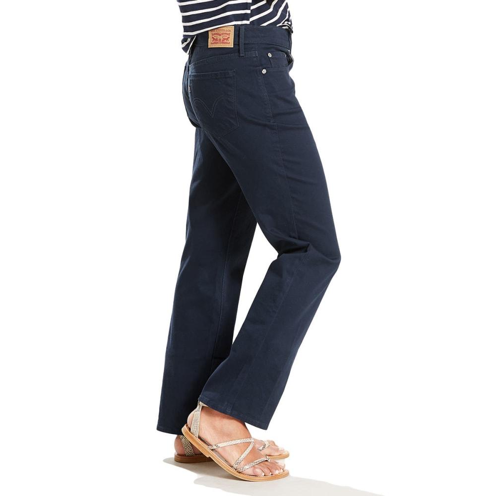 LEVI'S Women's 505 Straight Leg Jeans - 0156-RICH NAVY BLAZE