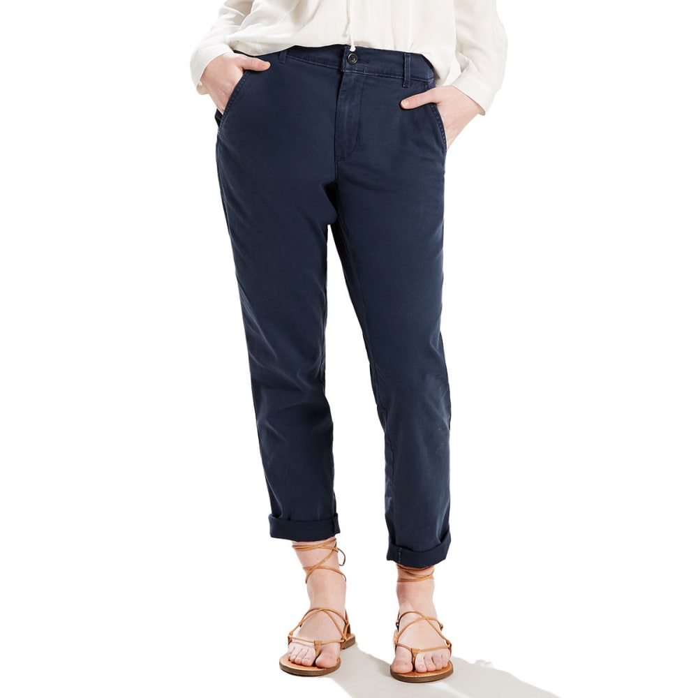 LEVI'S Women's Core Chino Pants - 0001-CRISP NAVY BLAZ