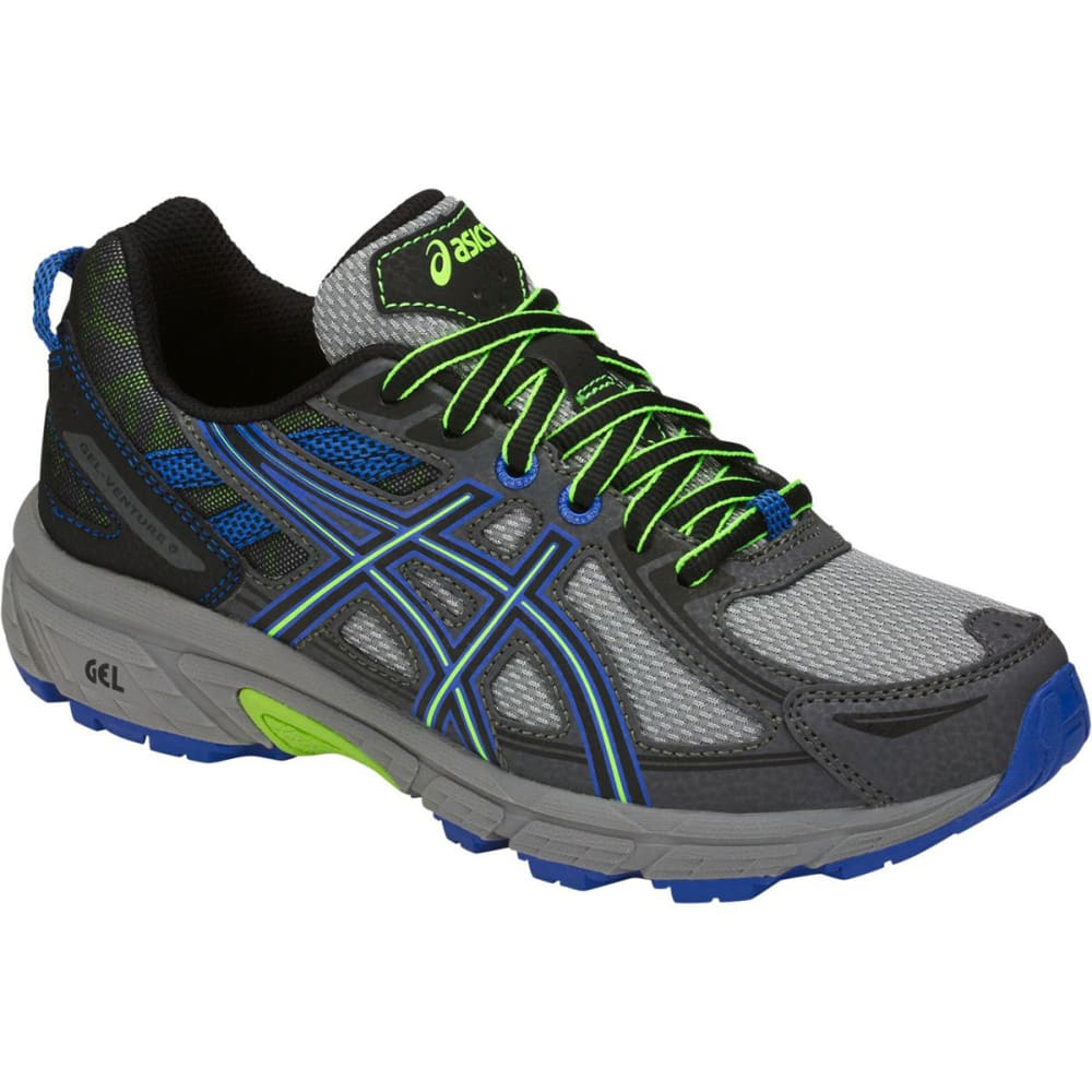 ASICS Boys' GEL-Venture 6 GS Running Shoes - STONE GREY - 1190