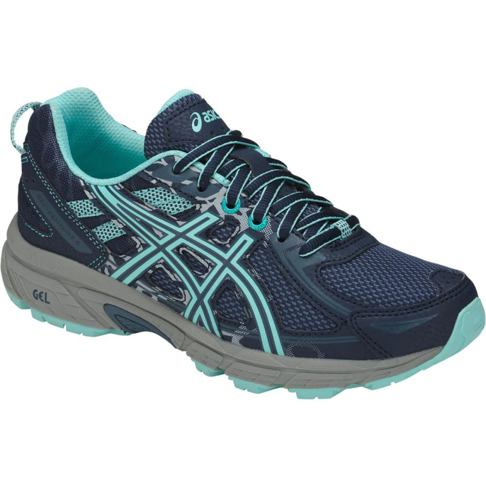 Asics Big Girls Gel-Venture 6 Gs Running Shoes - Blue, 3.5