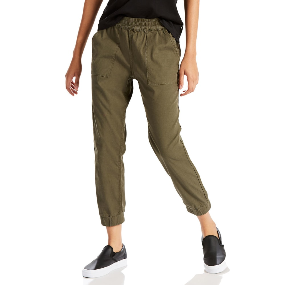 LEVI'S Women's Jet Set Tapered Pants - 0002-OLIVE ENVY