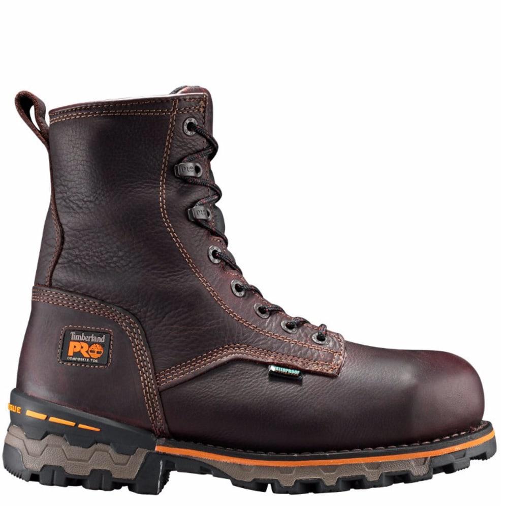TIMBERLAND PRO Men's Boondock 8-Inch Comp Toe Work Boots - DARK BROWN