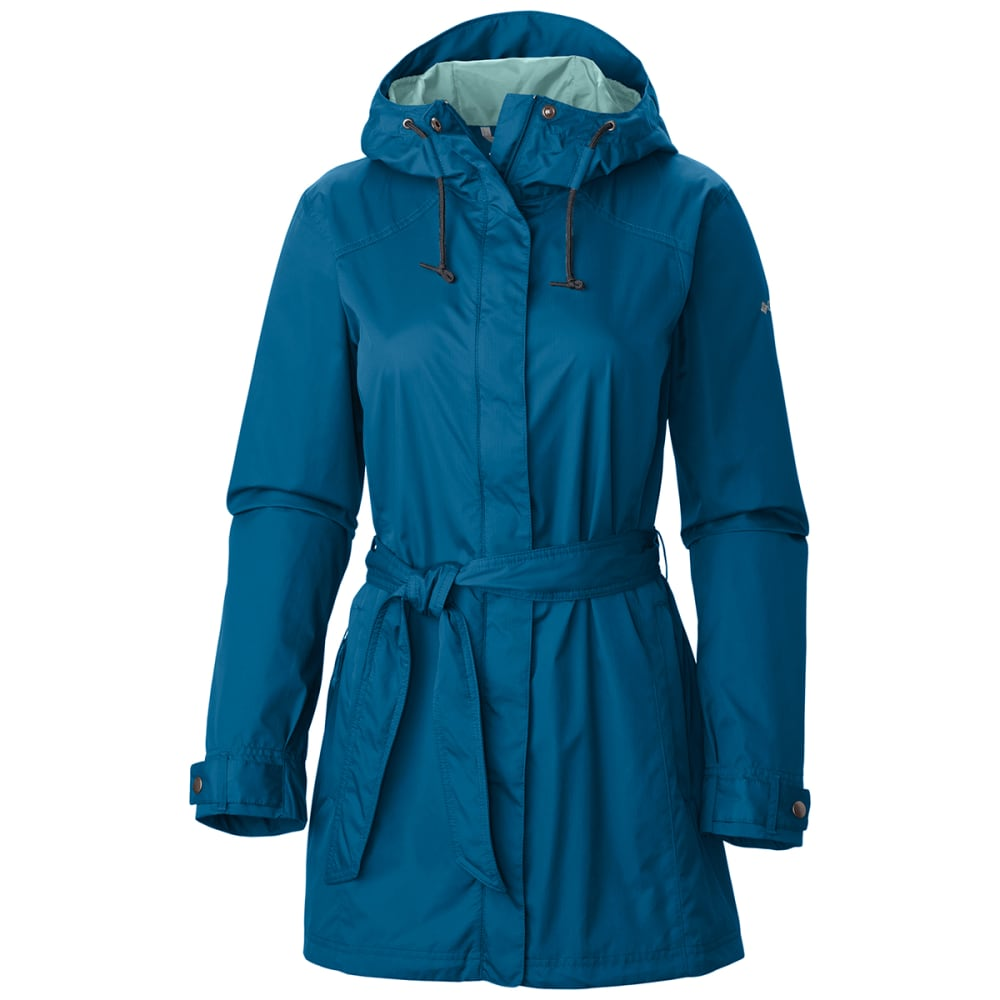 Columbia Women's Pardon My Trench Rain Jacket - Blue, S