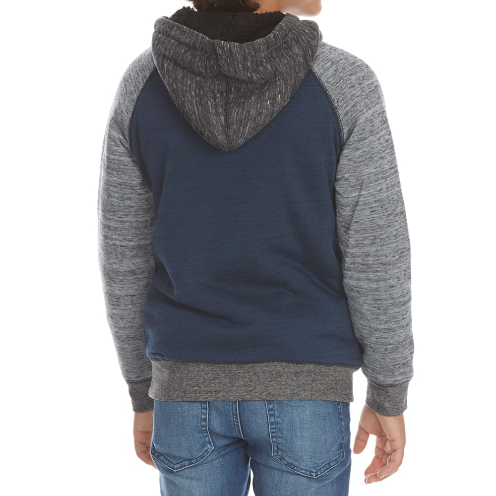 OCEAN CURRENT Boys' Play Sherpa Fleece Full-Zip Hoodie - MIDNIGHT
