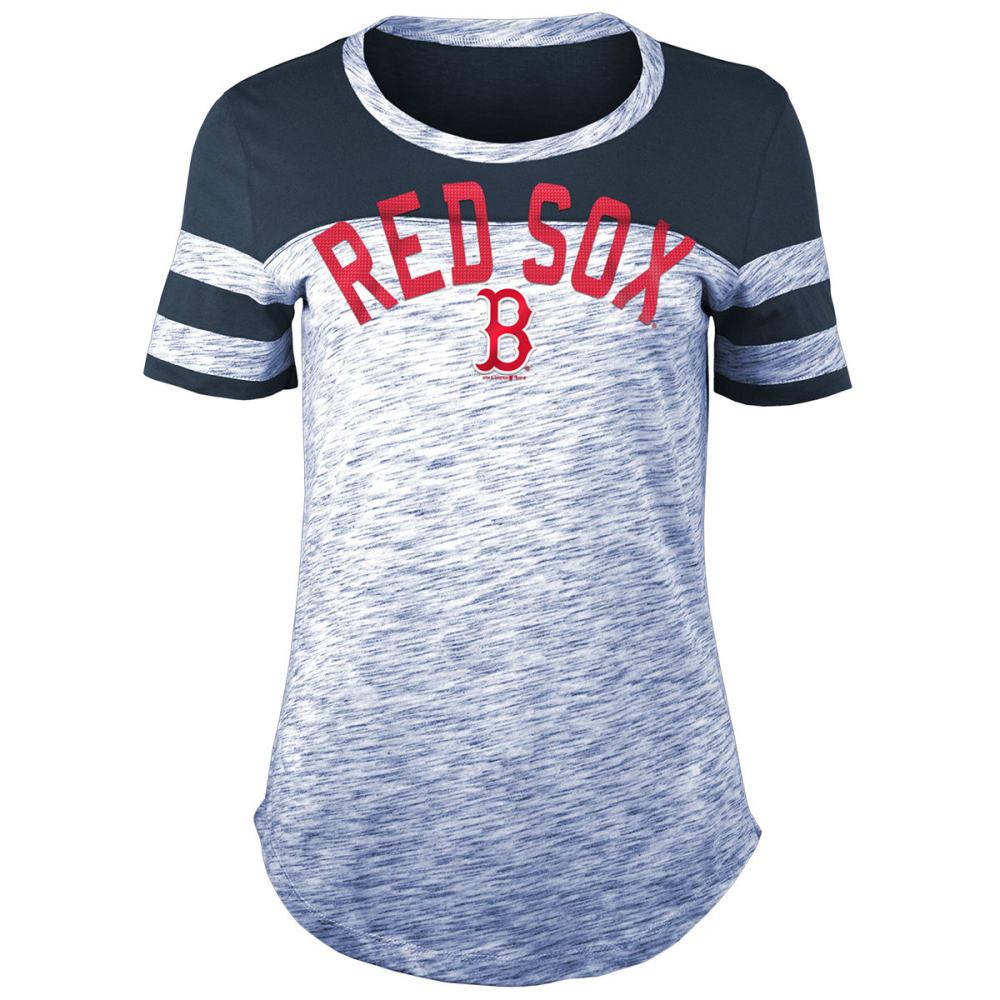 BOSTON RED SOX Women's Space-Dye Scoop-Neck Short-Sleeve Tee - NAVY
