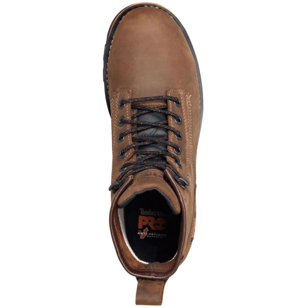 TIMBERLAND PRO Men's 6 in. AG Boss Alloy Safety Toe Waterproof Work Boots, Medium Brown - MED BROWN