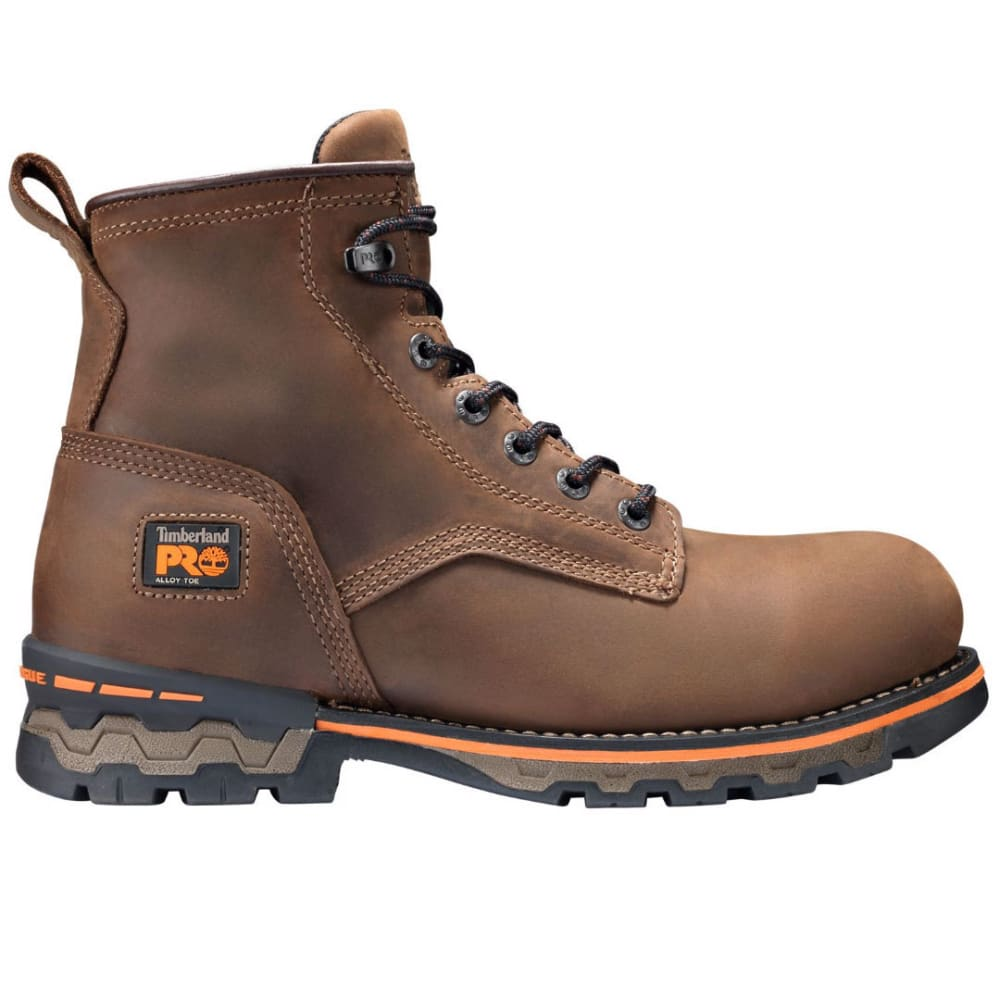 TIMBERLAND PRO Men's 6 in. AG Boss Alloy Safety Toe Waterproof Work Boots, Medium Brown 7