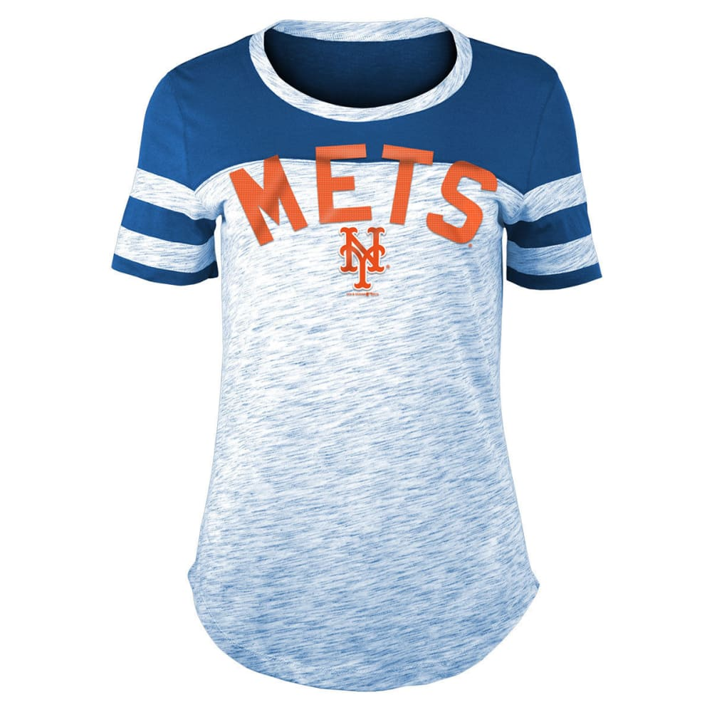 NEW YORK METS Women's Space-Dye Scoop-Neck Short-Sleeve Tee - ROYAL BLUE