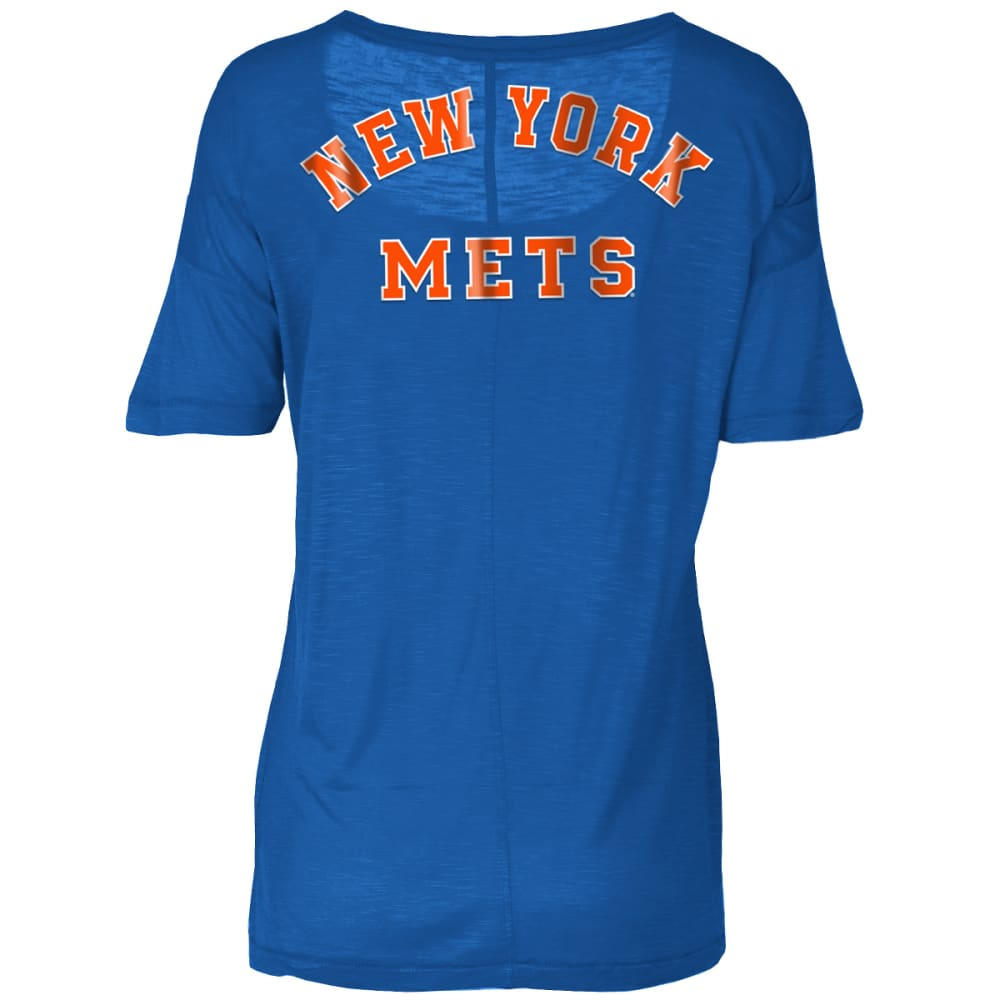 NEW YORK METS Women's Spirit Scoop-Neck Short-Sleeve Tee - ROYAL BLUE