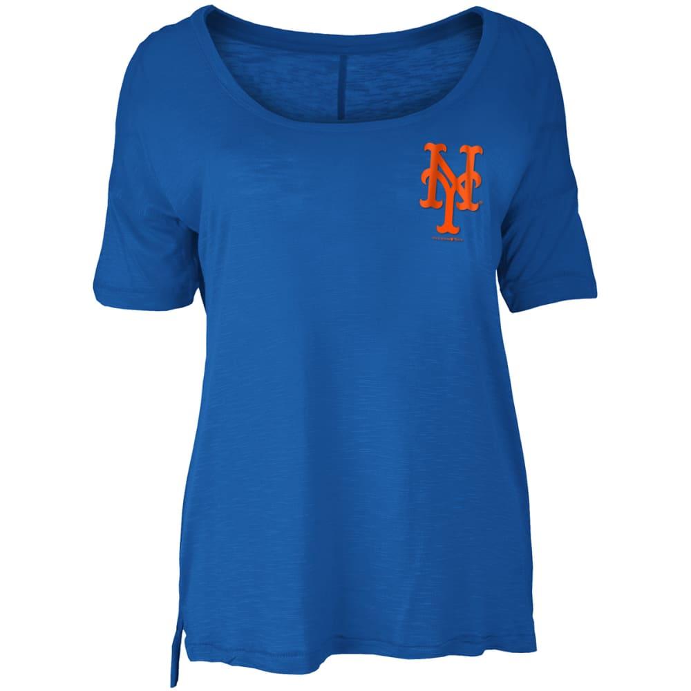 NEW YORK METS Women's Spirit Scoop-Neck Short-Sleeve Tee M