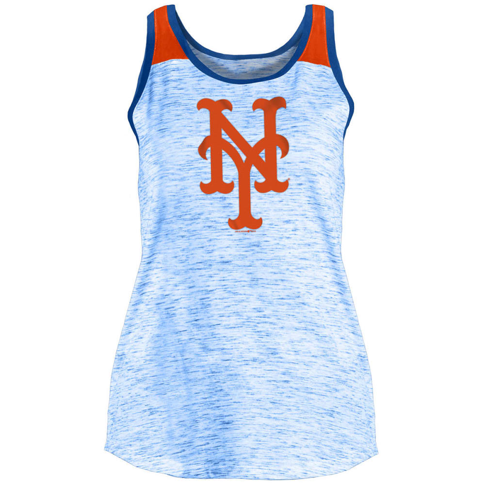 NEW YORK METS Women's Sequin Space-Dye Tank Top - ROYAL BLUE