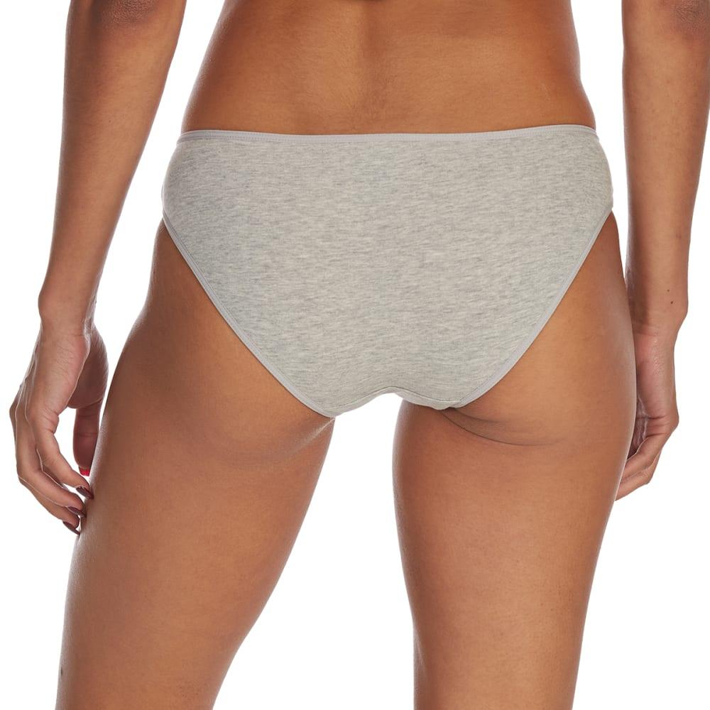 RENE ROFE Juniors' Cotton/Spandex Bikini Briefs - HGRY-HTHR GREY